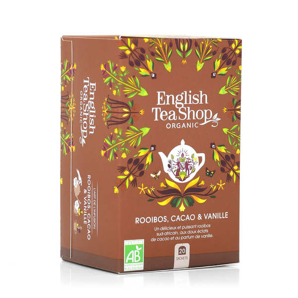 Organic Chocolate rooibos and vanilla Tea - muslin sachet
