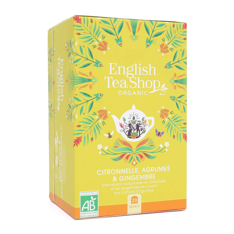 Organic Lemongrass, Ginger & Citrus Tea - muslin sachet