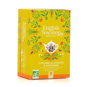 English Tea Shop - Infusion citronnelle, gingembre, agrumes bio - sachet mousseline