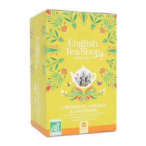 English Tea Shop - Infusion citronnelle, gingembre, agrumes bio - sachet mousseline