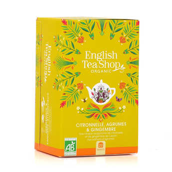 English Tea Shop - Organic Lemongrass, Ginger & Citrus Tea - muslin sachet
