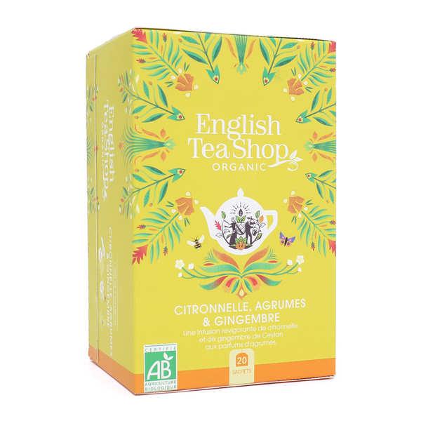 Infusion citronnelle, gingembre, agrumes bio en sachets - boite 20 infusettes