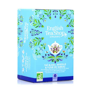English Tea Shop - Thé blanc fleur de sureau et myrtille bio - sachet mousseline