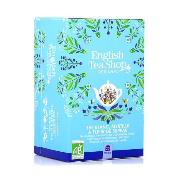 Thé blanc fleur de sureau et myrtille bio - sachet mousseline