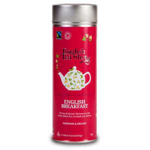 English Tea Shop - Thé English Breakfast bio - Boite métal sachets pyramides