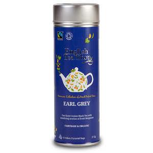 English Tea Shop - Thé Earl Grey bio - Boite métal sachets pyramides