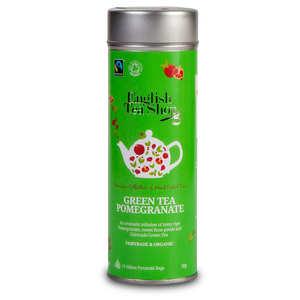 English Tea Shop - Thé vert de Ceylan à la grenade bio - Boite métal sachets pyramides