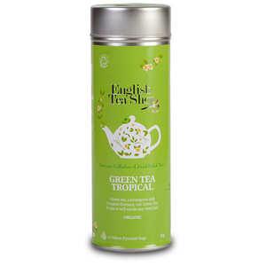English Tea Shop - Thé vert punch tropical bio - Boite métal sachets pyramides