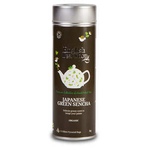 English Tea Shop - Thé vert Sencha bio - Boite métal sachets pyramides
