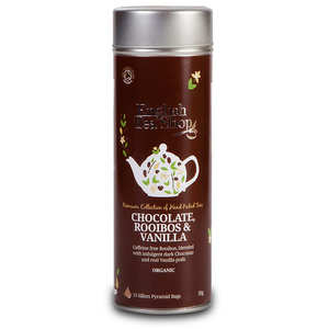 English Tea Shop - Thé rooïbos chocolat, vanille bio - Boite métal sachets pyramides