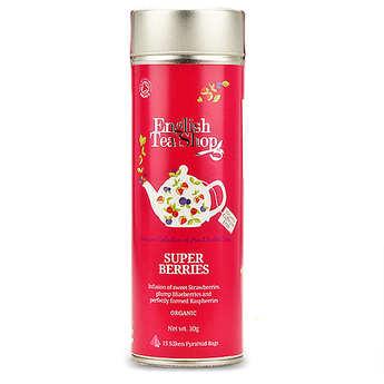English Tea Shop - Organic Super Berries Herbal Tea - Metal box