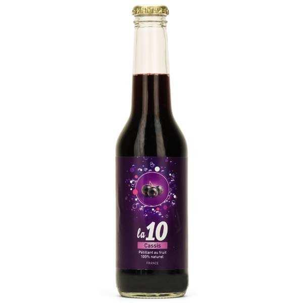 10 cassis - soda pétillant au cassis de bourgogne - bouteille 27.5cl