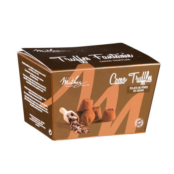 Truffes fantaisie aux éclats de fèves de cacao