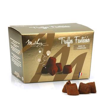 Chocolat Mathez - Truffes fantaisie Marc de Champagne en ballotin