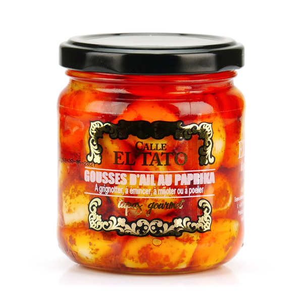 Pickled garlic with Paprika