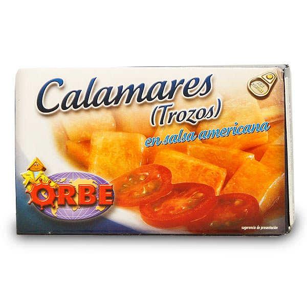Calamars en morceaux à la sauce américaine
