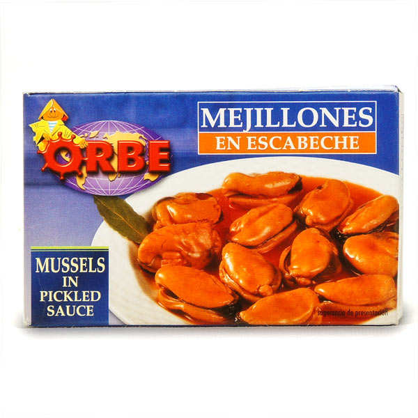 """Mussels with """"escabeche sauce"""""""