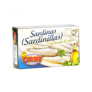 Orbe - Sardinillas - petites sardines à l'huile d'olive bio
