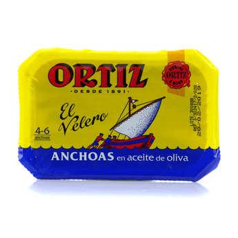 Ortiz - Filets d'anchois de Gascogne à l'huile d'olive