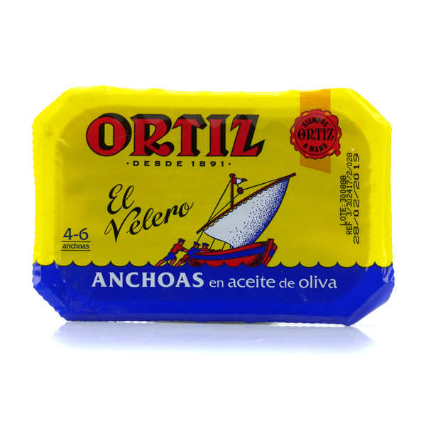 Anchovy filet with olive oil