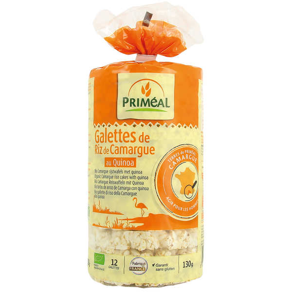 Organic rice and quinoa cakes from Camargue