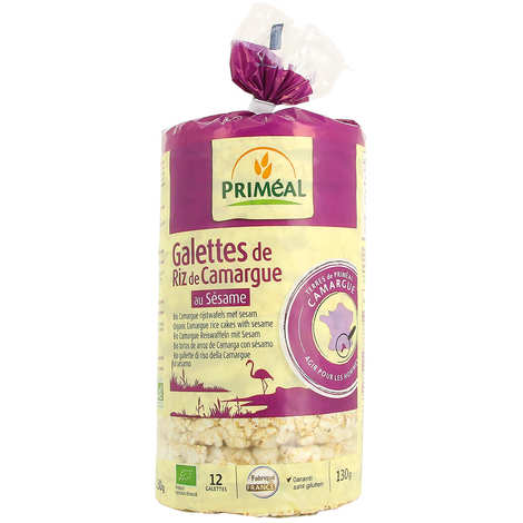 Priméal - Galettes de riz de Camargue au sésame Bio sans gluten