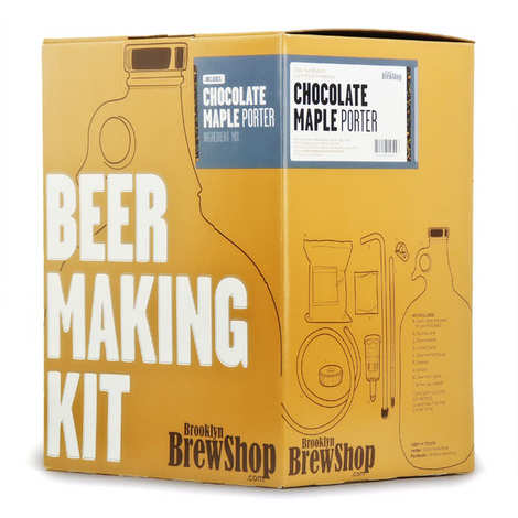 Brooklyn Brew Shop - Kit de fabrication bière brune, chocolat, sirop d'érable - 6.8%