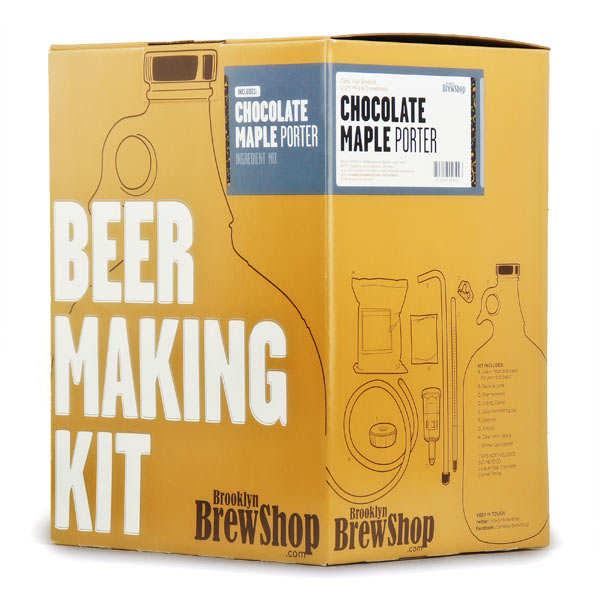Kit de fabrication bière brune, chocolat, sirop d'érable - 6.8%