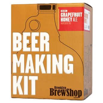 Brooklyn Brew Shop - Kit de fabrication bière blonde Pamplemousse miel - 5.5%