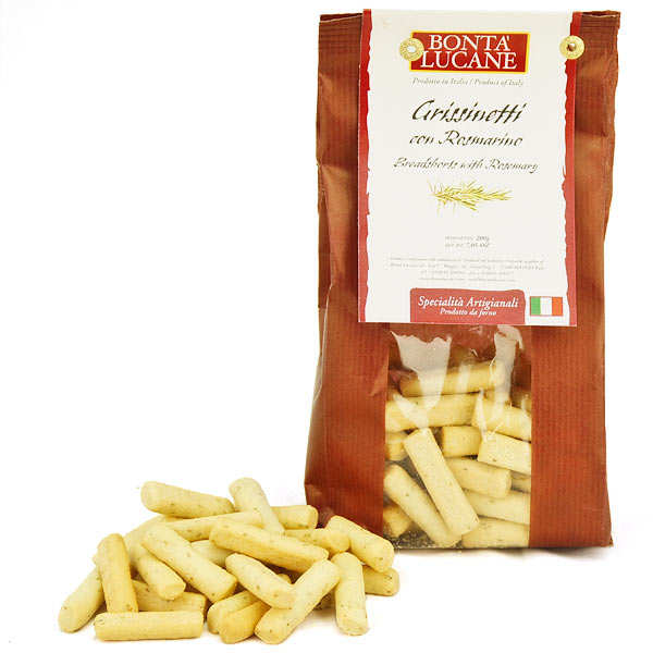 Grissinetti au romarin - biscuit apéritif italien