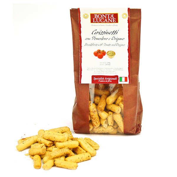 Grissinetti tomate et origan - biscuit apéritif italien