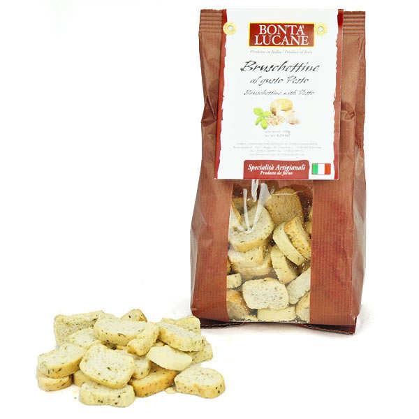 Bruschettine au pesto - biscuit apéritif italien