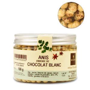 Bovetti chocolats - Chocolats apéritif anis enrobé de chocolat blanc