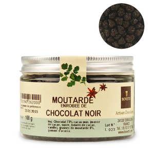 Bovetti chocolats - Chocolats apéritifs à la moutarde enrobé de chocolat noir