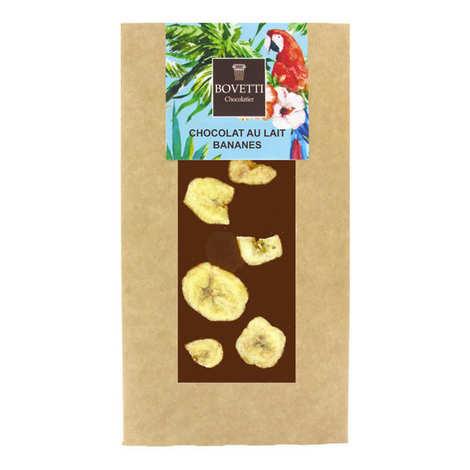 Bovetti chocolats - Tablette chocolat au lait banane