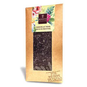 Bovetti chocolats - Tablette chocolat noir aux éclats de menthe