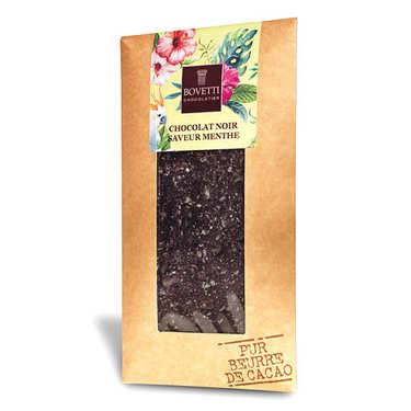 Tablette chocolat noir aux éclats de menthe