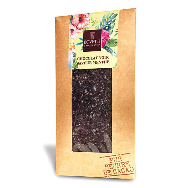 Plain chocolate with  mint - chocolate bar