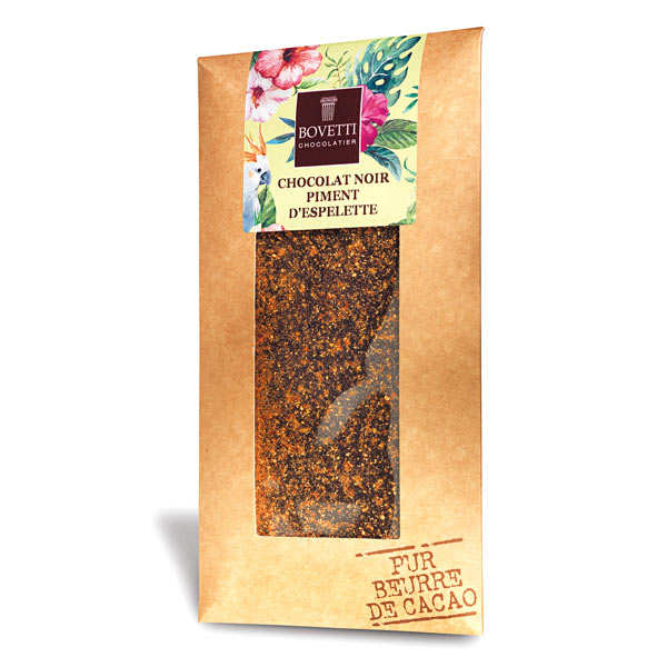 Tablette chocolat noir piment d'espelette