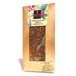 Bovetti chocolats - Tablette chocolat noir piment d'espelette