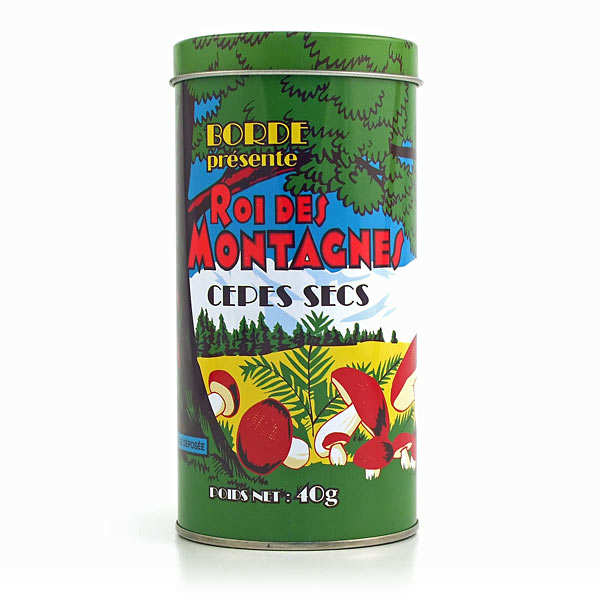 Dried Cep Mushrooms in Collector's Tin