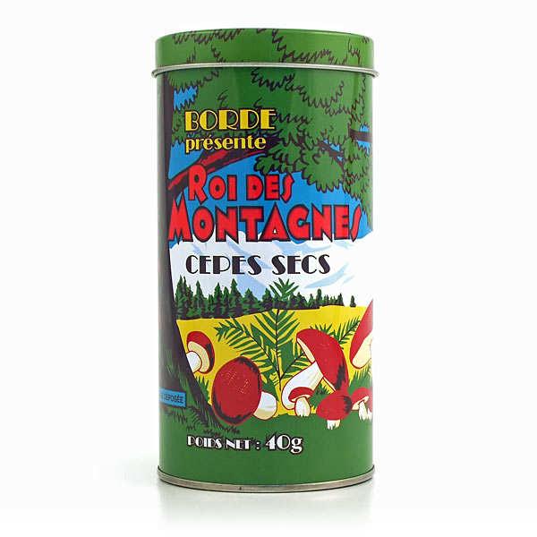 Cèpes extra séchés en boite fer