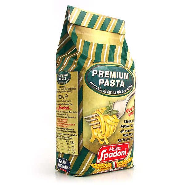 Flour for typical mediterranean pasta