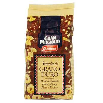 Molino Spadoni - Farine de semoule de blé dur italienne moulue 2 fois