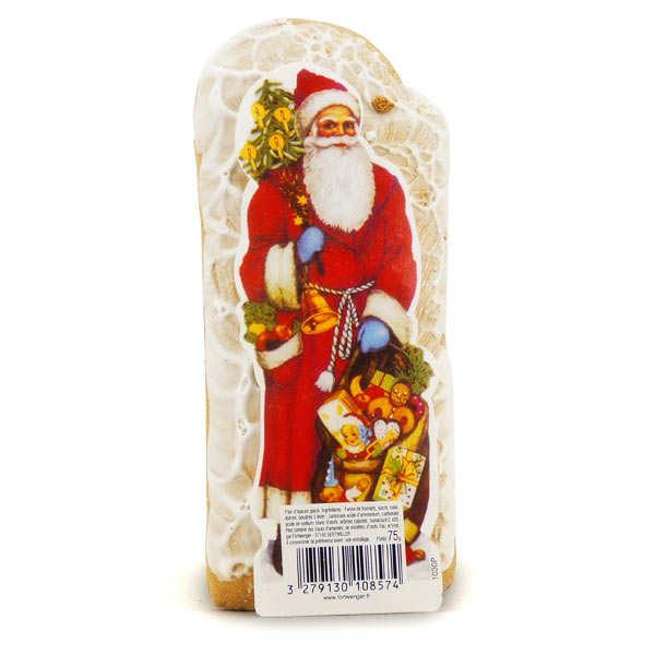 Père Noël glacé - pain d'épices alsacien non levé