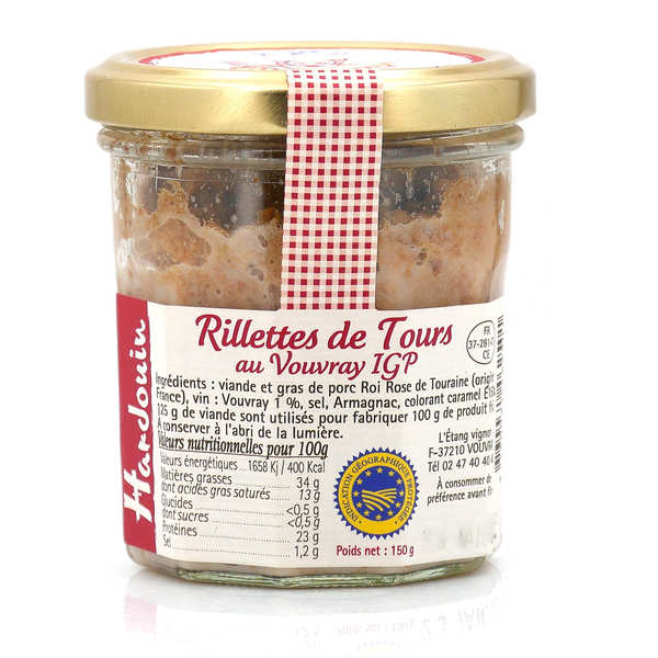 Traditional Rillettes with Vouvray Wine