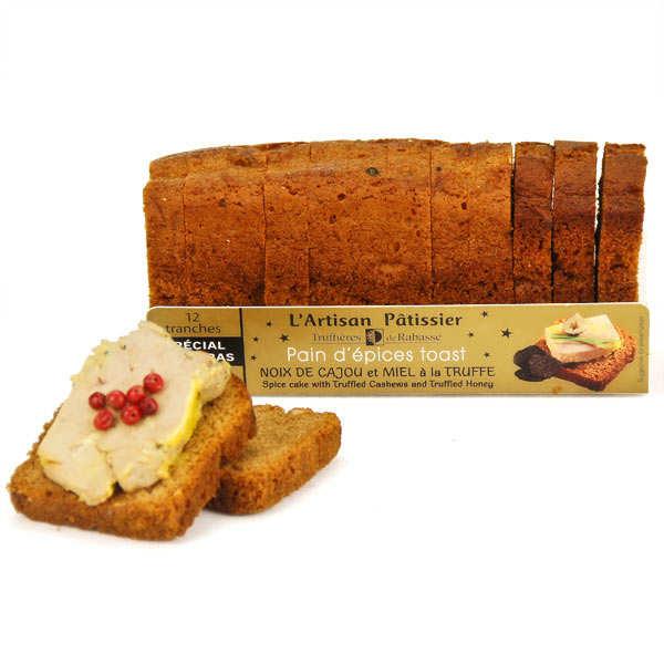 Toast pain d'épices noix de cajou à la truffe - spécial foie gras