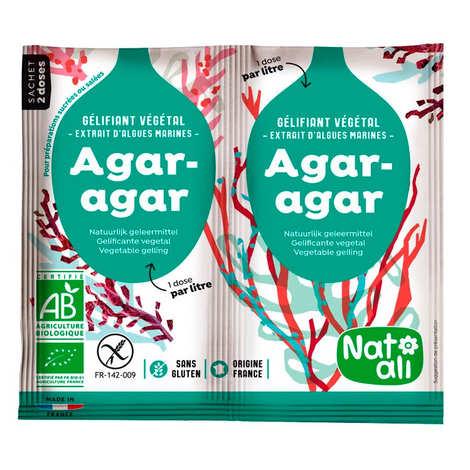 Nat-Ali - Agar agar en poudre bio - En sachets