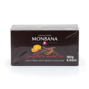 Monbana Chocolatier - Box of Candied Orange Pieces in Dark Chocolate