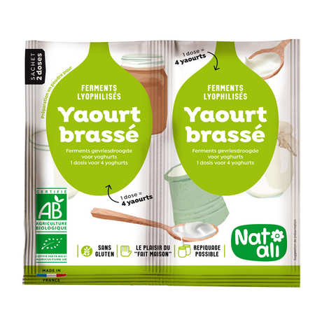 Nat-Ali - Ferments lyophilisés bio pour yaourt